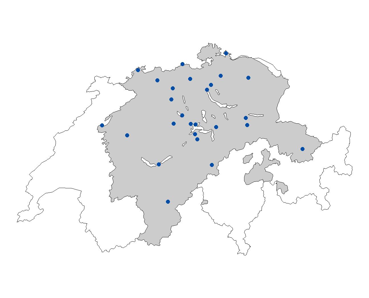 UZH URPP Language And Space The ArchiMob Corpus - Switzerland language map