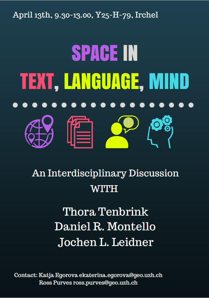 Space in Text, Language, Mind